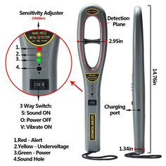 awesome Dostyle Hand Held Metal Detectors, Portable Light-weight Security Scanner Wand with Adjustable Sensitivity Used Metal Detectors, Garrett Metal Detectors, Finding Treasure, Buried Treasure, Treasure Hunting, Underwater Metal Detector, Metal Detecting Tips, Metal Detector Reviews, Waterproof Metal Detector