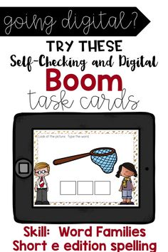 Word Family Short E Edition See, Say, Spell, Write Boom Cards Teaching Sight Words, Dolch Sight Words, Sight Word Activities, Interactive Activities, Cvc Words, Teaching Math, Teaching Resources, Teaching Materials, Short E Words