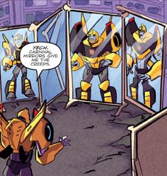 Transformers robots in disguise comic>>OMG FAR LEFT MIRROR XD