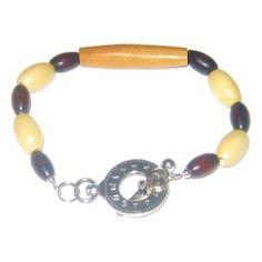 Tan, Beige, and Dark Brown Men's Bracelet by AngieShel Designs, LLC at www.angiesheldesigns.com
