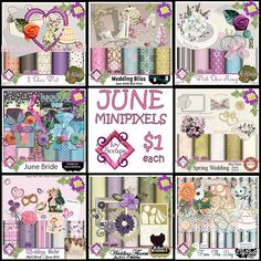 Eight new wedding/anniversary/love-in-bloom-themed minikits in the Minipixel Boutique at Ivy Scraps … just $1 each! http://www.ivyscraps.com/store2/2015-06-june-c-169_307/