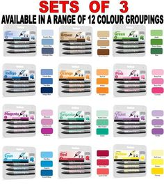 LETRASET PROMARKER COLOUR BLEND SET 3 MARKERS WHOLE RANGE 12 COLOURS AVAILABLE in Crafts, Painting, Drawing & Art, Drawing Supplies | eBay
