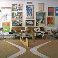 The gallery wall of designer Michael Boyd's Santa Monica home, built by architect Oscar Niemeyer. #introspective