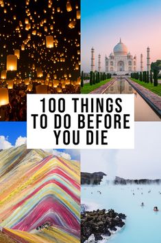 Ultimate List of things to do Before You Die! : A life of bucket list travels - have you been? Looking for the most epic list of 100 things to do before you die? I have worked tirelessly to provide this incredible list and hope you enjoy it! Travel List, Travel Goals, Travel Plane, Travel Checklist, Japan Travel, Places To Travel, Travel Destinations, Bucket List Life, 100 Things To Do
