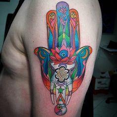 35 Unbelievable Hamsa Tattoo Ideas | Cuded Hamsa Hand Tattoo, Hand Tattoos, Sleeve Tattoos, Tatoos, Mum Tattoo, Back Tattoo, Tattoo Art, Elephant Tattoo Meaning, Hamsa Design