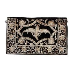 Vintage Small Velvet Embellished Dragonfly Clutch With Strap (€140) ❤ liked on Polyvore featuring bags, handbags, clutches, accessories, purses, women, vintage hand bags, brown hand bags, vintage purse and 1920s purse