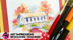 Ai Watercolor – Covered Bridge