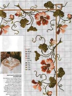 ru / Фото - OBRUSY 1 - aaadelayda by katharine Cross Stitch Boards, Cute Cross Stitch, Cross Stitch Rose, Cross Stitch Flowers, Cross Stitch Designs, Cross Stitch Patterns, Cross Stitching, Cross Stitch Embroidery, Embroidery Patterns