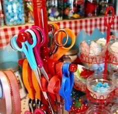 Mug tree as scissor holder. | 51 Insanely Easy Ways To Transform Your Everyday Things