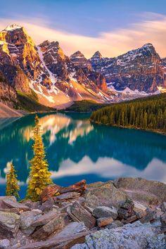 Moraine Lake valley of Ten Peaks Banff National Park Alberta Canada Beautiful Scenery Pictures, Pretty Pictures, Beautiful Images, Beautiful Landscape Photography, Beautiful Landscapes, Nature Photography, Nature Images, Nature Pictures, Nature Aesthetic