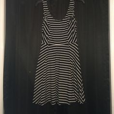Striped dress It is cotton and stretchy! Worn once and in great condition! Mossimo Supply Co. Dresses Mini