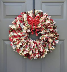 Ribbon Wreaths, Fabric Wreaths, and Deco Mesh Wreaths by KristinCraftsALot Rag Wreaths, Deco Mesh Wreaths, Fabric Wreath, Diy Wreath, Christmas Holidays, Christmas Wreaths, Shabby Chic Fabric, How To Make Wreaths, 4th Of July Wreath