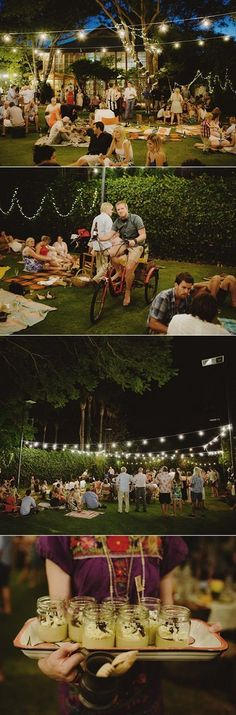 Picnic Style Wedding... So adorable! I love this!