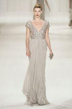 Elie Saab Fall 2009 #PFW #dress #gown #sequins #blush