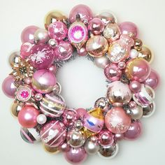 Pretty Pink Christmas! New wreaths on the shop!