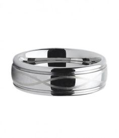 8MM Grooved Laser Engraved Tungsten Carbide Wedding Band - Tungsten Rings
