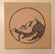 Inspired by a Colorado Mountain Range, this piece is on a 10 X 10 burlap canvas. May this piece inspire you daily to explore this beautiful