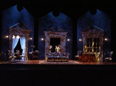 Lady Windermere's Fan. University of California, Irvine. Scenic design by Christopher Sousa-Wynn. 2003