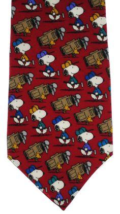 "Peanuts Snoopy Woodstock Golf Neck Tie Silk  ""Good Caddies are Hard to Find"" #Peanuts #NeckTie"