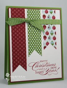 North Shore Stamper: Christmas Card CASE#2. Could use any scraps of Christmas pattern paper.