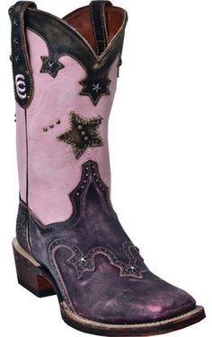Dan Post Vintage Star Cowgirl Boots - Square Toe - Sheplers