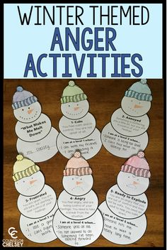 8 anger management activities with a fun winter theme. Students will learn to recognize their anger, learn their anger triggers, and practice coping skills with these activities. Coping Skills Activities, Group Therapy Activities, Social Emotional Activities, Emotions Activities, Counseling Activities, School Counseling, Group Counseling, Elementary Counseling, Learning Skills