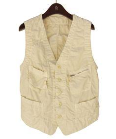 Natural duck canvas vest