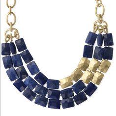 Image result for blue gold necklace