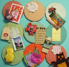 fabric-covered cork boards... i think this is a must in my bedroom