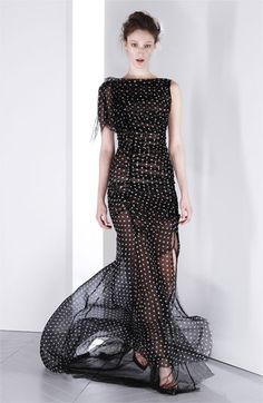 Nina Ricci Draped Silk & Net Gown available at #Nordstrom