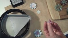 """Faux """"Glass"""" Flower Embellishments using punches and UTEE"""