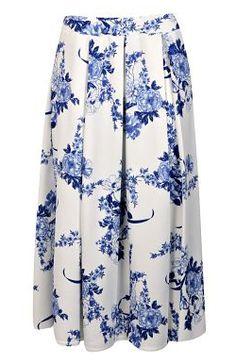 Box Pleat Midi Skirt €27 Boohoo.com