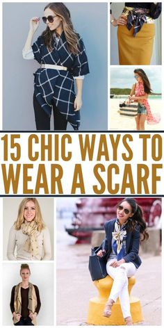 Scarf season is here! Freshen up your look for fall and winter with these cute, new ways to wear a scarf.