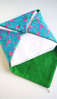Fabric Paper napkin holder by silly old suitcase