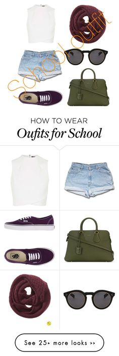 """""""School outfit"""" by talyorsmtith on Polyvore featuring Banana Republic, Illesteva, Bally, Topshop and Vans"""