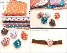 The Fun Cheap or Free Queen: Savvy Saturday project: Bubble flower hair bow