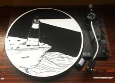 Turntable Slipmat: Lighthouse by PorchlightCoffee on Etsy