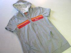 Top Girl Juniors Sweatshirt L Large Hoodie Gray SS Short Sleeve CLEARANCE SALE