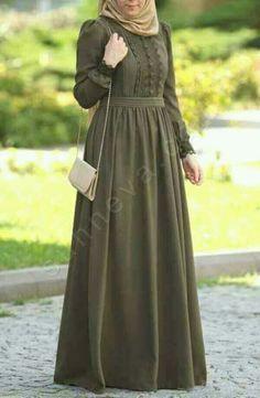 like this colour Abaya Fashion, Modest Fashion, Fashion Dresses, Muslim Women Fashion, Islamic Fashion, Hijab Dress Party, Hijab Outfit, Modest Dresses, Nice Dresses