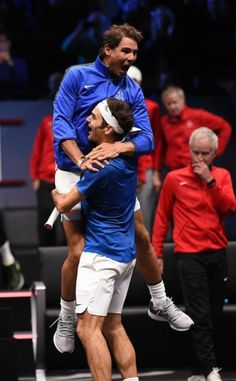 Roger Federer and Rafa Nadal No happier picture !!