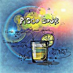皮斯科酸, 鸡尾酒, 喝, 酒精, 食谱, 党, 酒类, 夏季