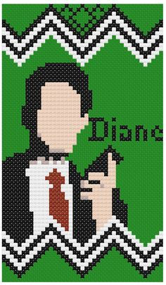 Diane Agent Cooper Twin Peaks PDF Cross Stitch by CowlQueen, $3.00