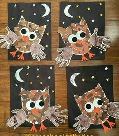 Handprint Crafts Ideas Capturing our little ones handprints is such a perfect way to record how quickly they grow and change. Handprint Crafts for Kids Ideas Kids Crafts, Daycare Crafts, Fall Crafts For Kids, Classroom Crafts, Art For Kids, Owl Crafts Preschool, Fall Art For Toddlers, Fall Classroom Decorations, Fall Crafts For Toddlers