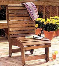 wood patio chair plans #diy