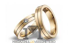 Verighete aur galben 5.5mm MDV 600 yellow #verighete #verighete5mm #verigheteaur #verigheteaurgalben #magazinuldeverighete Aur, 50 Euro, Wedding Rings, Engagement Rings, Yellow, Jewelry, Crystal, Diamond, Enagement Rings