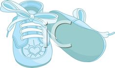 New Baby Clipart - Baby Shoes
