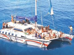 Afrikat Boat Trip - 5 hours on a catamaran with discounted watersports (jet ski for Puerto Rico, Going On Holiday, Holiday Ideas, Canario, Jet Ski, Catamaran, Water Sports, Trip Advisor, Attraction