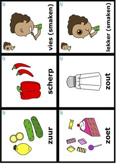 Woordkaarten Reggio Emilia, Toddler Play, Allrecipes, Food Inspiration, Restaurant, Cooking, Learning, Studying, Kitchen