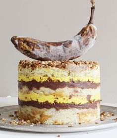 i wish baking was my real job: Banana Layer Cake