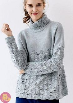 Discussion on LiveInternet - Russian Online Diary Service Vogue Knitting, Lace Knitting, Knitting Stitches, Knitwear Fashion, Knit Fashion, Crochet Girls, Crochet Lace, Girls Sweaters, Cardigans For Women
